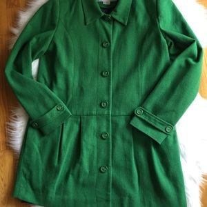 Women's Cooperative Green Coat Size Large